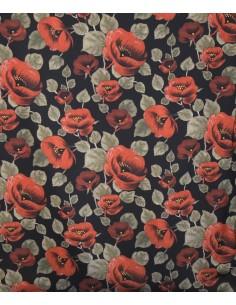 Cafy elasticizzato Floreale sfondo nero